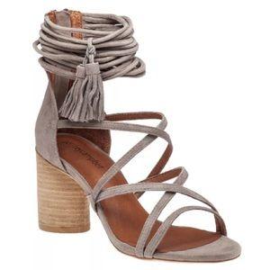 Size 8 Jeffrey Campbell Despina Grey Suede Heels